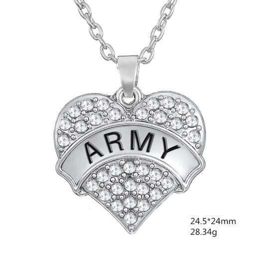 army hart ketting - RJ Army