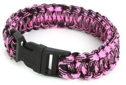 paracord black pink