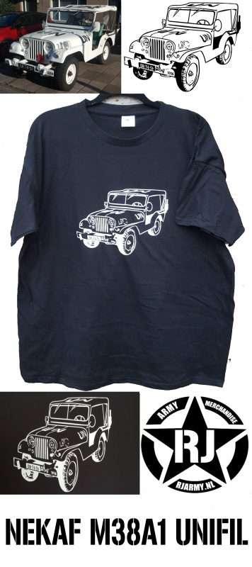 Nekaf M38A1 - maatwerk tshirt - www.rjarmy.nl