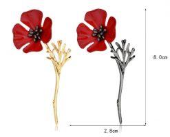 3D Herdenkings pin Poppy - RJ Army Merchandise