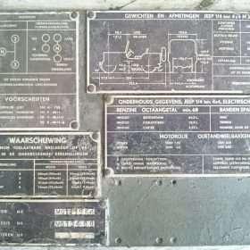 Nekaf data plates nieuw - RJ Army Militaria Merchandise