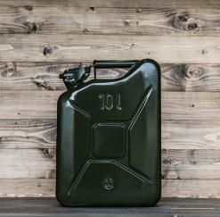 399010 Stalen jerrycan 10L groen