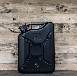 399010 Stalen jerrycan 10L zwart