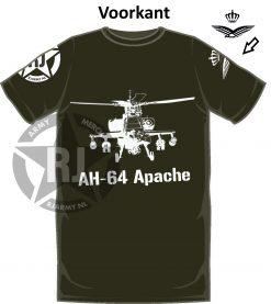 Apache AH-64 tshirt front