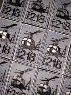 Huey 218 grijze patch (6x4cm)